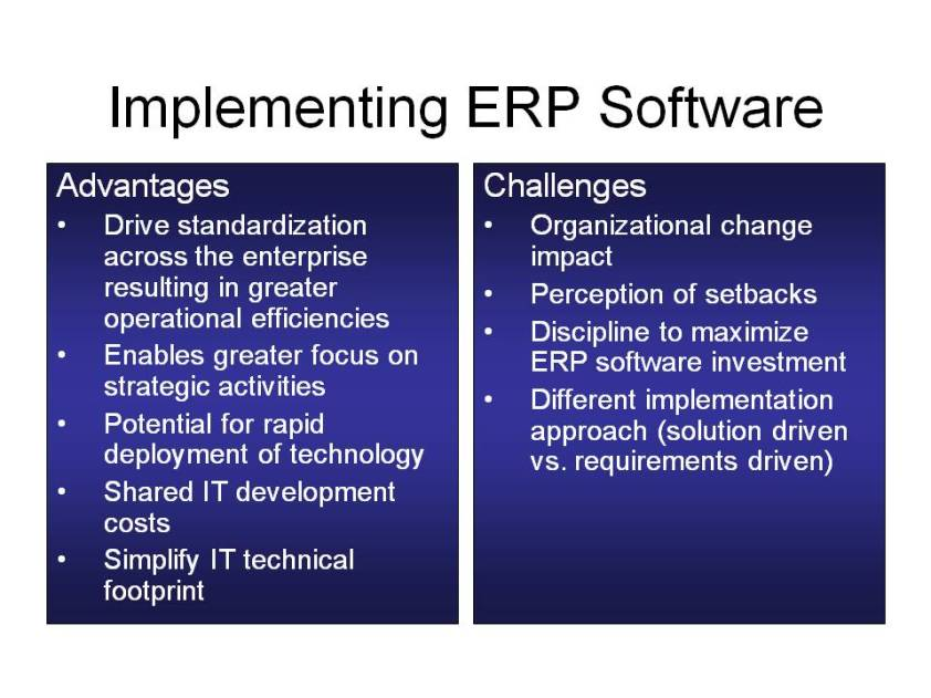 ERP Pros and Cons