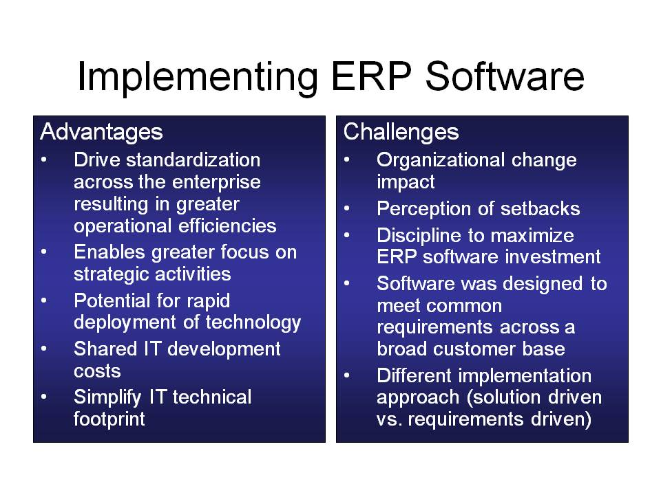 ERP Advantages and Challenges