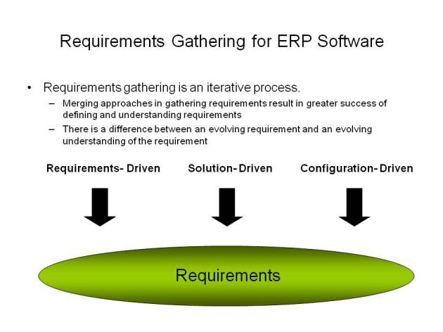 Gathering ERP requirements