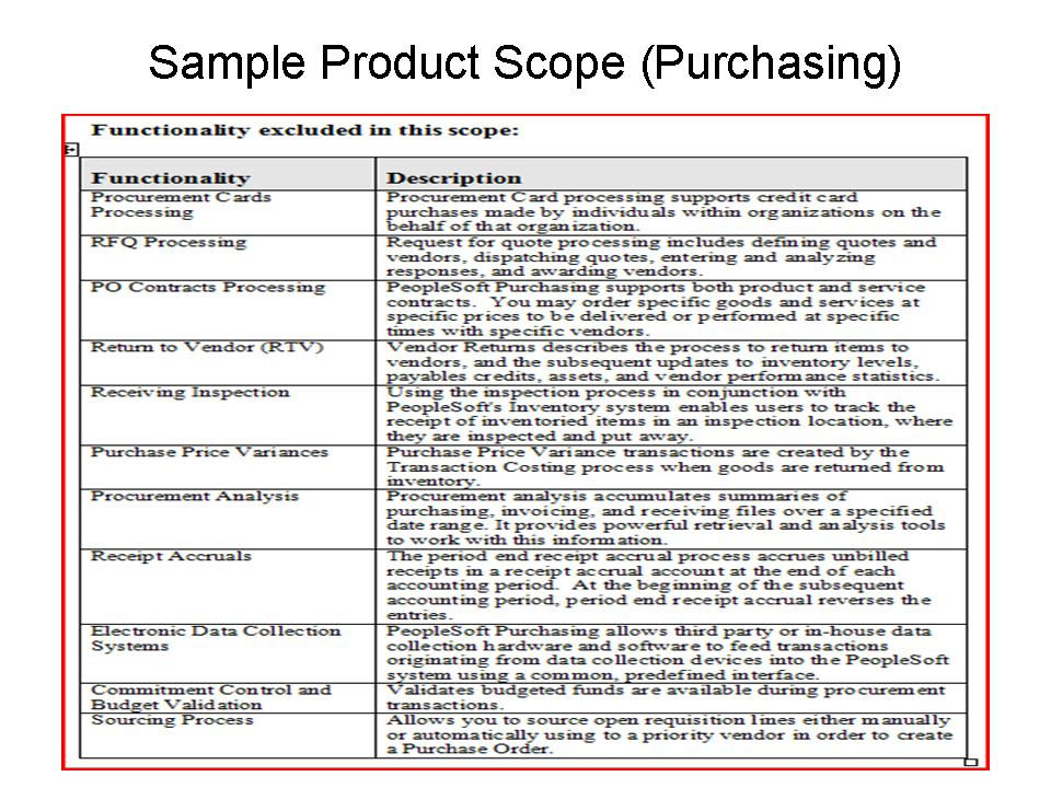 Lovely ERP Product Scope   Out Of Scope