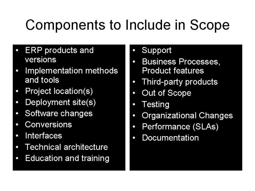 ERP Scope Definition