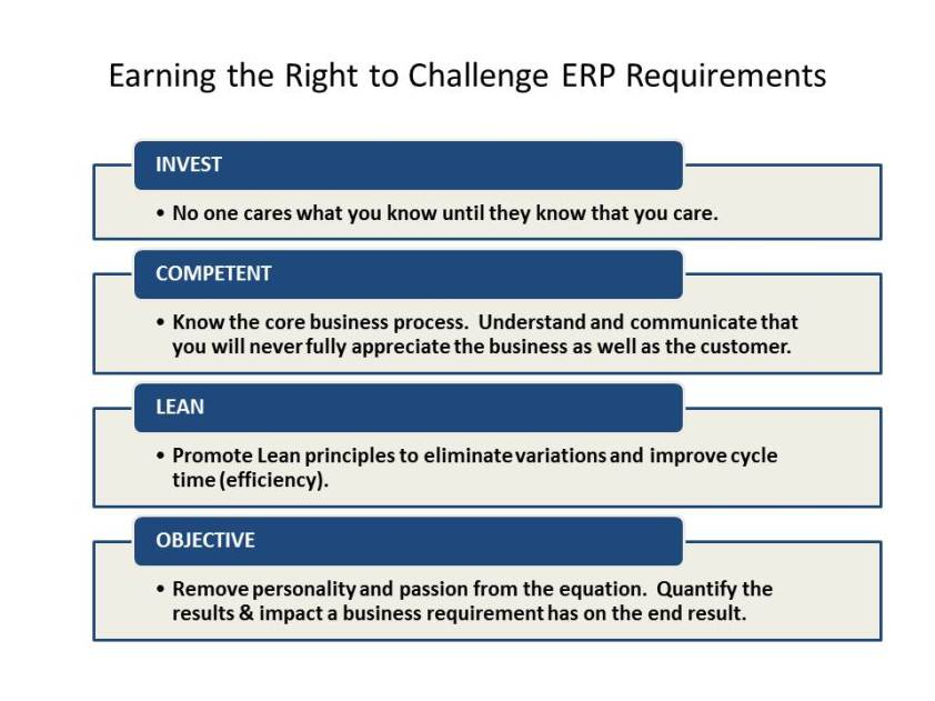 Vetting ERP Requirements